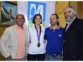 Juan Rivas y Andres Siniego junto a la Deportista Olímpica Nadia Baez y el Intendente Municipal Mariano West