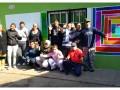 taller de mural en la Granja Andar